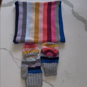GapKids size M neck warmer and  transition mittens